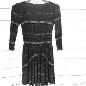 TopShop Velvet  Print Dress